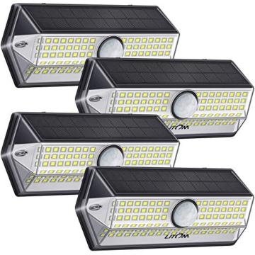 Luci Solari per Giardino, [4 Modalità 4 Pezzi]LITOM Versione Aggiornata luce solare led esterno IP67 impermeabile,Parete Wireless Risparmio Energetico[Classe di efficienza energetica A+++] - 1
