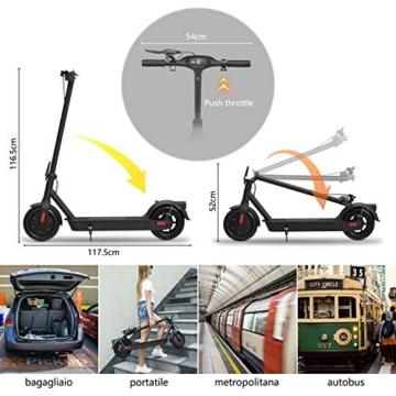 Monopattino Elettrico Scooter Pieghevole per Adulto velocità Massima 25km/h 350W, 40-45 Km di Autonomia, Pneumatico a Prova di Esplosione da 10 Pollici - 4