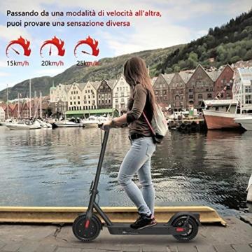 Monopattino Elettrico Scooter Pieghevole per Adulto velocità Massima 25km/h 350W, 40-45 Km di Autonomia, Pneumatico a Prova di Esplosione da 10 Pollici - 5