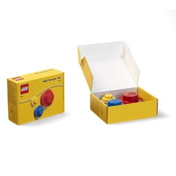 Room Copenhagen Lego-Set Appendiabiti da Parete, Yellow, Blue, Red, Small, Medium And Large - 5