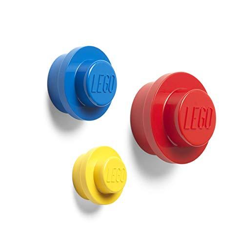 Room Copenhagen Lego-Set Appendiabiti da Parete, Yellow, Blue, Red, Small, Medium And Large - 1