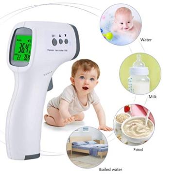 ROXTAK Termometro Frontale, Letture istantanee Accurate, Termometro Digitale a infrarossi Professionale Senza Contatto, per Neonati, Bambini, Adulti - 4