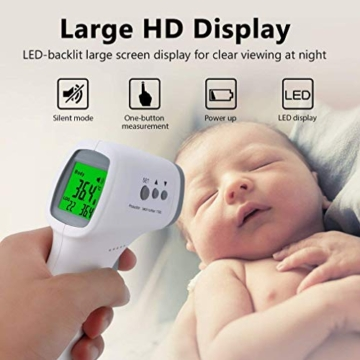 ROXTAK Termometro Frontale, Letture istantanee Accurate, Termometro Digitale a infrarossi Professionale Senza Contatto, per Neonati, Bambini, Adulti - 5