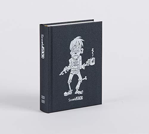 ScuolaZoo Diario 2020-2021 Datato 16 Mesi Limited Edition, Classic 11x15 cm (Nero Metallizzato) - 1