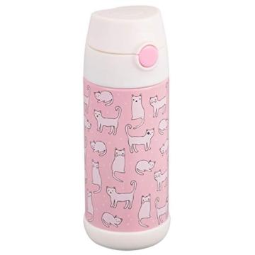 Snug - Borraccia termica per bambini, con cannuccia 350ml Gatti. - 1