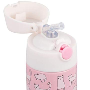 Snug - Borraccia termica per bambini, con cannuccia 350ml Gatti. - 2