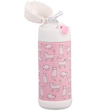 Snug - Borraccia termica per bambini, con cannuccia 350ml Gatti. - 3