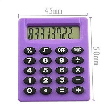 SUPERTOOL - Mini calcolatrice per studenti, elettrica, portatile, per scuola elementare, casa, ufficio, 50 x 45 x 8 mm - 3