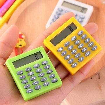SUPERTOOL - Mini calcolatrice per studenti, elettrica, portatile, per scuola elementare, casa, ufficio, 50 x 45 x 8 mm - 4