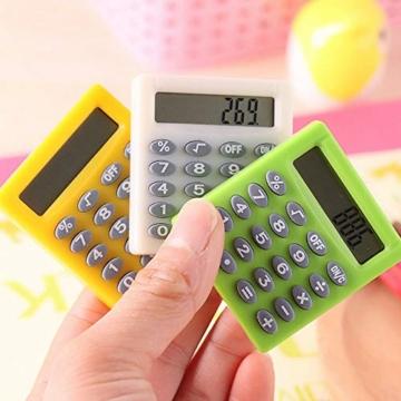 SUPERTOOL - Mini calcolatrice per studenti, elettrica, portatile, per scuola elementare, casa, ufficio, 50 x 45 x 8 mm - 6