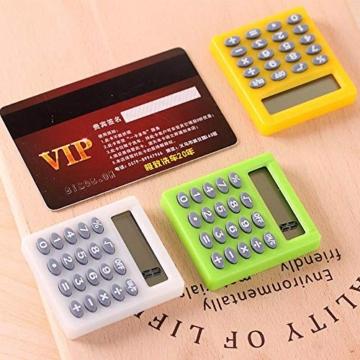 SUPERTOOL - Mini calcolatrice per studenti, elettrica, portatile, per scuola elementare, casa, ufficio, 50 x 45 x 8 mm - 7