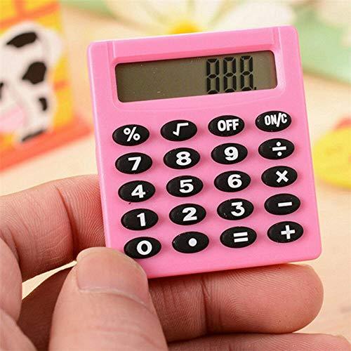 SUPERTOOL - Mini calcolatrice per studenti, elettrica, portatile, per scuola elementare, casa, ufficio, 50 x 45 x 8 mm - 1