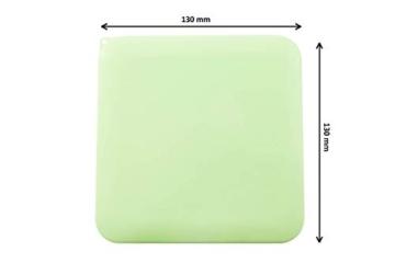 TBOC Custodia per Mascherina - Scatola Quadrata [Verde] Portaoggetti per Maschere Organizzatore Portatile in Plastica Rigida per Mask Monouso Leggero e Riutilizzabile per Proteggere da Polvere Sporco - 3