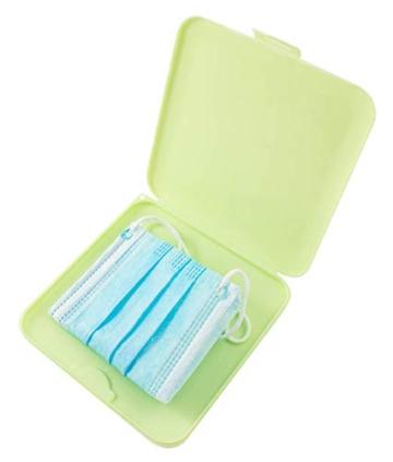 TBOC Custodia per Mascherina - Scatola Quadrata [Verde] Portaoggetti per Maschere Organizzatore Portatile in Plastica Rigida per Mask Monouso Leggero e Riutilizzabile per Proteggere da Polvere Sporco - 1