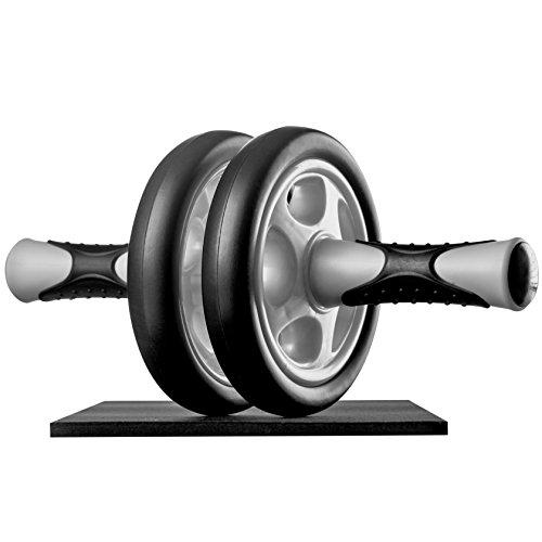 Ultrasport Attrezzo per Addominali AB Roller/Trainer AB Supporto per le Ginocchia, Allenamento Addominali per Uomini, Donne e Persone Anziane, Trainer Muscolare Pieghevole, Nero, Taglia Unica - 1