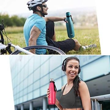Umi. by Amazon - Borraccia Termica, 500 ml Bottiglia Acqua in Acciaio Inox, Senza BPA, 24 Ore Freddo & 12 Caldo, Borracce per Scuola, Sport, All'aperto, Palestra, Yoga (Verde) - 3