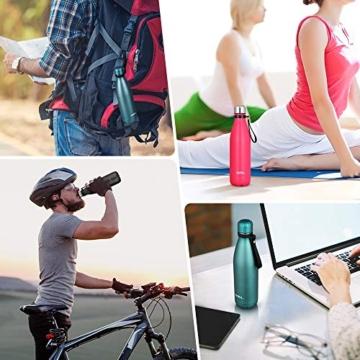 Umi. by Amazon - Borraccia Termica, 500 ml Bottiglia Acqua in Acciaio Inox, Senza BPA, 24 Ore Freddo & 12 Caldo, Borracce per Scuola, Sport, All'aperto, Palestra, Yoga (Verde) - 8