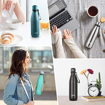 Umi. by Amazon - Borraccia Termica, 500 ml Bottiglia Acqua in Acciaio Inox, Senza BPA, 24 Ore Freddo & 12 Caldo, Borracce per Scuola, Sport, All'aperto, Palestra, Yoga (Verde) - 9