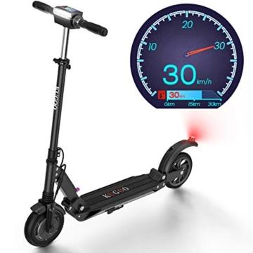 urbetter Monopattino Elettrico, 30 Km di Autonomia, velocità Fino a 30 Km/h, 350W Scooter Elettrico Pieghevole Unisex Adulto - S1 (Nero) - 1