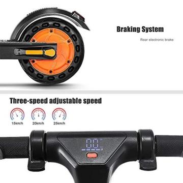 urbetter Monopattino Elettrico Pieghevole, E Scooter Elettrico Adulti,velocità Massima 25km/h,25km di Autonomia, Motore 350W, 3 modalità di velocità, Kirin S1 (A Nero) - 4