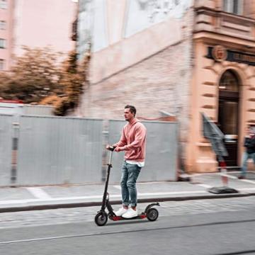 urbetter Monopattino Elettrico Scooter Pieghevole per Adulto velocità Massima 30kmh 350W Pneumatico a Prova di Esplosione da 8 Pollici, S1 PRO (A Nero) - 2