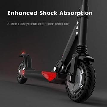 urbetter Monopattino Elettrico Scooter Pieghevole per Adulto velocità Massima 30kmh 350W Pneumatico a Prova di Esplosione da 8 Pollici, S1 PRO (A Nero) - 3