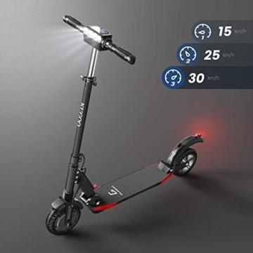 urbetter Monopattino Elettrico Scooter Pieghevole per Adulto velocità Massima 30kmh 350W Pneumatico a Prova di Esplosione da 8 Pollici, S1 PRO (A Nero) - 4
