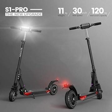urbetter Monopattino Elettrico Scooter Pieghevole per Adulto velocità Massima 30kmh 350W Pneumatico a Prova di Esplosione da 8 Pollici, S1 PRO (A Nero) - 5