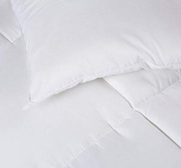 Utopia Bedding Invernale Piumone Piumino, Anallergico, 100% Microfibra in Fibra Cava (Bianco, 135 x 200 cm) - 2