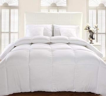 Utopia Bedding Invernale Piumone Piumino, Anallergico, 100% Microfibra in Fibra Cava (Bianco, 135 x 200 cm) - 3