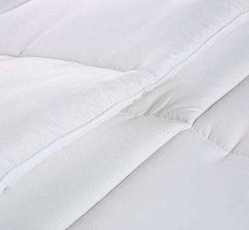 Utopia Bedding Invernale Piumone Piumino, Anallergico, 100% Microfibra in Fibra Cava (Bianco, 135 x 200 cm) - 4