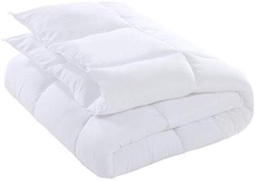 Utopia Bedding Piumone Piumino, Anallergico, 100% Microfibra in Fibra Cava (Bianco, 135 x 200 cm) - 2