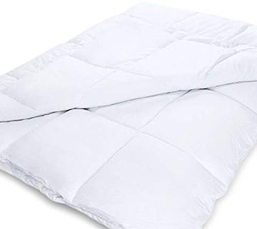 Utopia Bedding Piumone Piumino, Anallergico, 100% Microfibra in Fibra Cava (Bianco, 135 x 200 cm) - 3