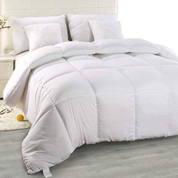 Utopia Bedding Piumone Piumino, Anallergico, 100% Microfibra in Fibra Cava (Bianco, 135 x 200 cm) - 1