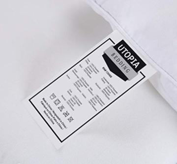 Utopia Bedding Piumone Piumino, Anallergico, 100% Microfibra in Fibra Cava (Bianco, 135 x 200 cm) - 7