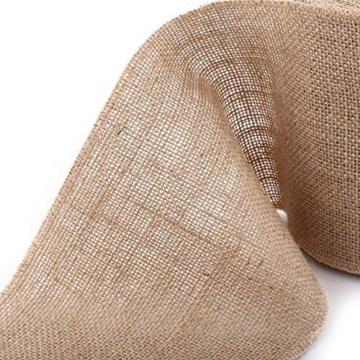 10 m 5 cm/10 cm/15 cm nastro di iuta tessuto rotolo, Vintage Runner per tavolo tela di iuta iuta tavolo Band per DIY di artigianato matrimonio decorazioni per la casa, Feltro, cachi, 15 cm - 7