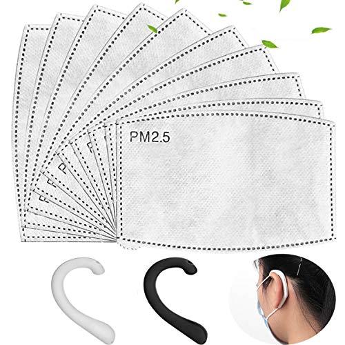 100PCS PM2.5 Foglio Attivo di Sostituzione del Carbonio, Utilizzato per Proteggere l'Inserimento Respiratorio, Adatto ad attività Esterne Adulte - 1
