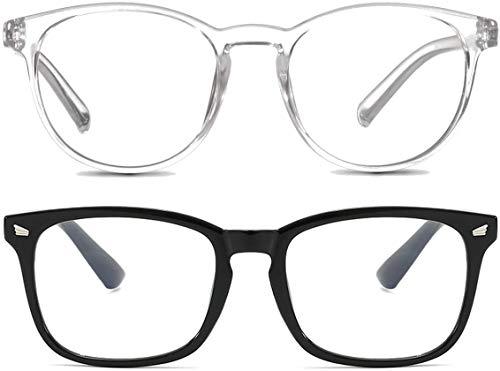 2 Occhiali Luce Blu – Anti-abbagliamento | Unisex | Anti-riflesso | Anti-affaticamento | Per Uso di Dispositivi Digitali - 1