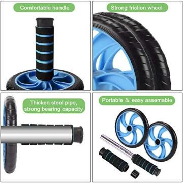 Aurorast Fitness Workout Set 4 Pezzi- Elastici Fitness | Push-up Board 13 in 1| AB Wheel Roller Addominali con Tappetino | Corda per Saltare, Attrezzi Palestra per casa - 3