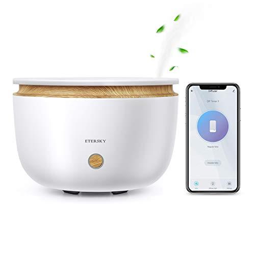 Alexa Diffusore di Aromi, Etersky Diffusore di Olio Essenziali Compatibile con Alexa e Google Home, APP Controllo, WiFi Profumatore 500ML con Funzione Timer, 2 Modalità di Nebbia per Camera da letto - 1