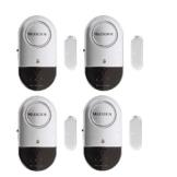 Allarme Finestra e Porta 120dB Sicurezza Casa Ultra Sottili Porta Finestra Allarme con Forte – Batterie Incluse – Set di 4 - 1