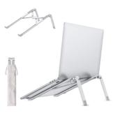 allcaca Supporto PC Portatile, Supporto Notebook Alluminio, Supporto Laptop Regolabile Pieghevole, Ventilato Laptop Stand, per MacBook Air/PRO, dell/Lenovo/HP/Tablet, Laptop(10-17.3 Pollici), Argento - 1