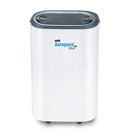 ANSIO Deumidificatore 12 litri/giorno, drenaggio continuo, scongelamento, umidostato, blocco bambini e ruote, ideale per casa, ufficio, cucina, cantina/garage. - 1