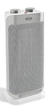Argo Boogie Plus Termoventilatore Ceramico a Torre, 2 Modalità di Riscaldamento Eco e Comfort, 1000 - 2000 W, Bianco/Argento - 1