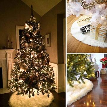 AWLGAK Gonna Albero di Natale, 90 cm soffice Neve Bianco Natale Decorazioni Albero di Natale Vacanze gonne - 3