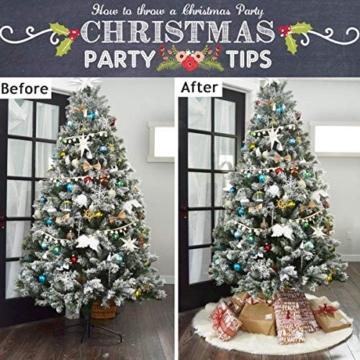 AWLGAK Gonna Albero di Natale, 90 cm soffice Neve Bianco Natale Decorazioni Albero di Natale Vacanze gonne - 4