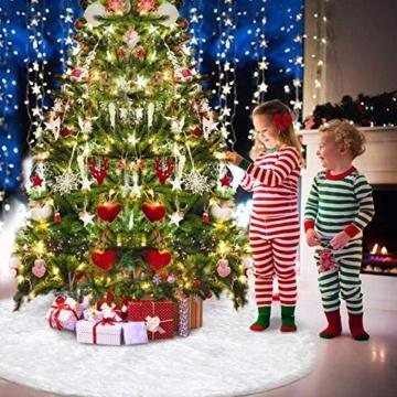 AWLGAK Gonna Albero di Natale, 90 cm soffice Neve Bianco Natale Decorazioni Albero di Natale Vacanze gonne - 7