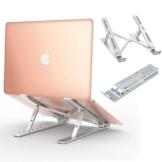 """Babacom Supporto PC Portatile, Alluminio Ventilato Porta Notebook, Raffreddamento Regolabile Porta PC, Leggero Notebook Riser Compatibile con MacBook Air/pro, Huawei Matebook D/Altri 10-15.6"""" Tablet - 1"""