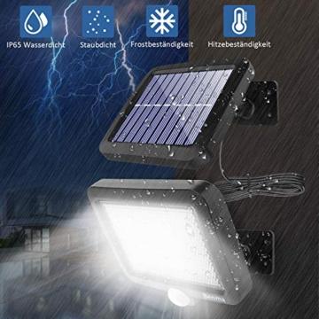 Benma - Lampade solari da esterni, luci solari da giardino con sensore di movimento, angolo di illuminazione 120°, 5 m, impermeabile, lampada da parete per giardino(cavo 16,5 ft) - 2