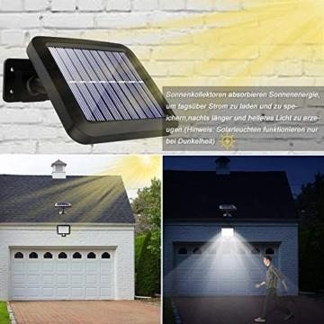Benma - Lampade solari da esterni, luci solari da giardino con sensore di movimento, angolo di illuminazione 120°, 5 m, impermeabile, lampada da parete per giardino(cavo 16,5 ft) - 3